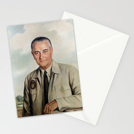 President Lyndon Johnson Portrait - Elizabeth Shoumatoff  Stationery Cards