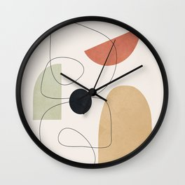 Minimal Shapes No.51 Wall Clock