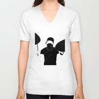 indie V-neck T-shirts featuring Indie Bandit by Janine