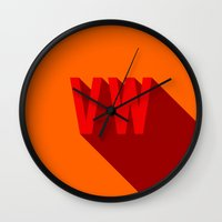 vw Wall Clocks featuring VW by Barbo's Art