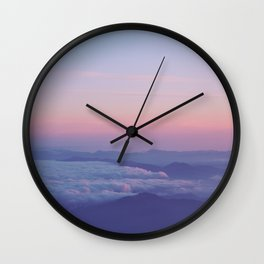 Pale Sky Wall Clock
