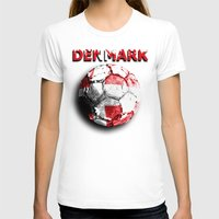 denmark T-shirts featuring Old football (Denmark) by seb mcnulty