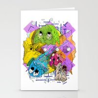 pacman Stationery Cards featuring Pacman by Jesús L. Yapor