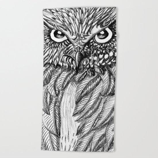 Fierce Owl Beach Towel