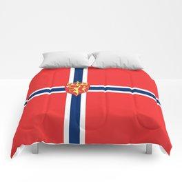 Flag of Norway Scandinavian Cross and Coat of Arms Comforters