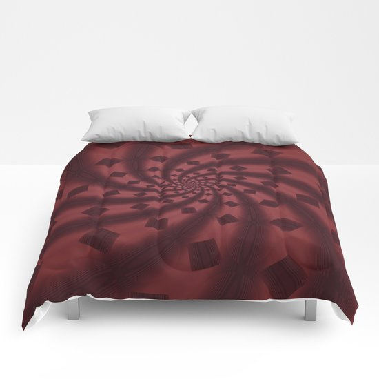 Tess Fractal in Rosewood Comforters