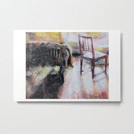 The Chair Waits Metal Print