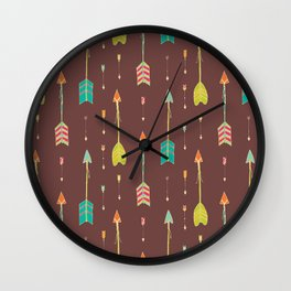 Bohemian hand drawn arrows, 02 Wall Clock