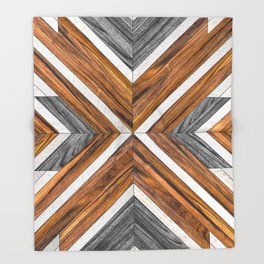 Urban Tribal Pattern No.4 - Wood Throw Blanket