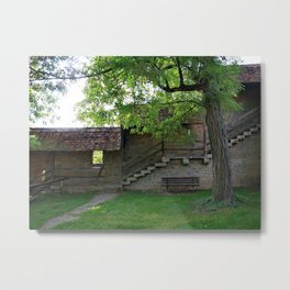 Rothenburg ob der Tauber - behind the fortification wall Metal Print