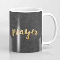 2pac Mugs featuring Player by Text Guy