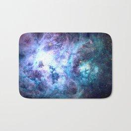 Tarantula Nebula Blue Lavender Gold Bath Mat