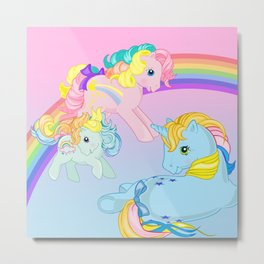 g1 my little pony rainbow Metal Print