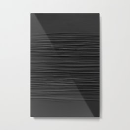 Black Smooth Texture (Black and White) Metal Print