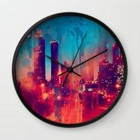 atlanta Wall Clocks featuring Graffiti Atlanta  by Danielle DePalma