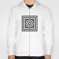 Stripes Circle Square Black & White Hoody