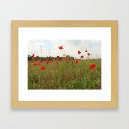 among weeds Framed Art Print