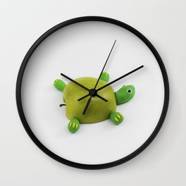 Turtle Apple Wall Clock