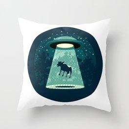 Beware UFO Throw Pillow