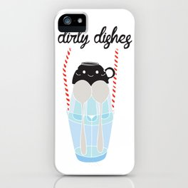 dirty dishes (girl) iPhone Case