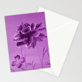 Purple rose Stationery Cards