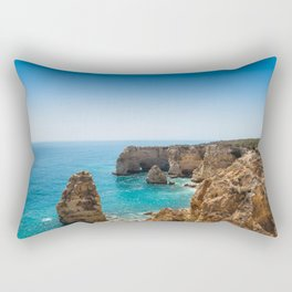 Beach at Lagoa, Algarve, Portugal II Rectangular Pillow