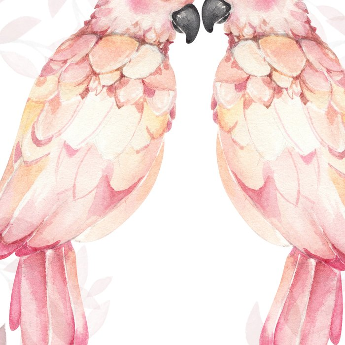 f4a91fd26b400 Watercolor burgundy pink tropical cockatoo bird floral Leggings by ...