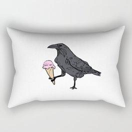 Raven and Ice Cream Rectangular Pillow