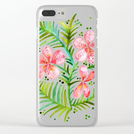 Orchid Bunch – Peach Palette Clear iPhone Case