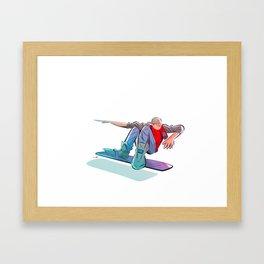 Living in the future Framed Art Print