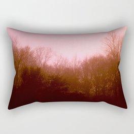 Pink Trees Rectangular Pillow