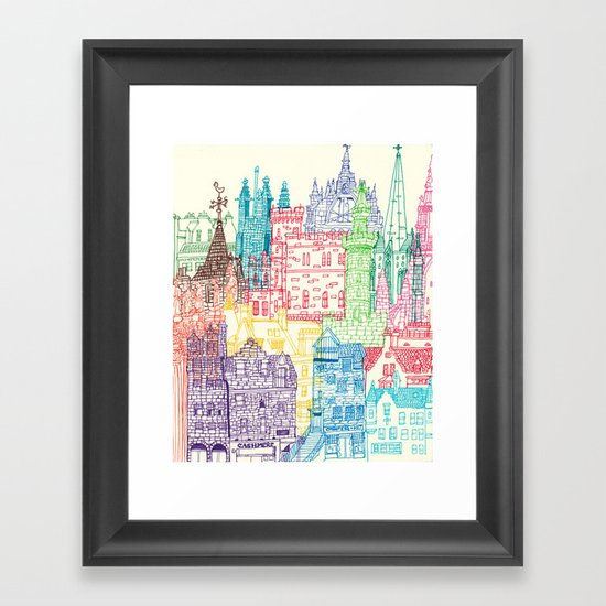 Edinburgh Towers Framed Art Print
