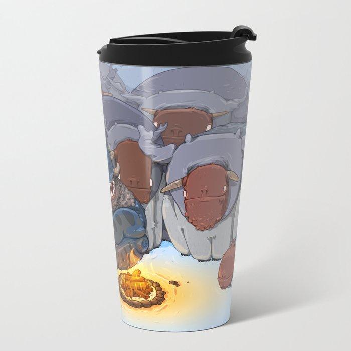 Happy Camper Metal Travel Mug