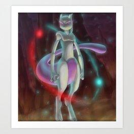 Mewtwo Sighting Art Print