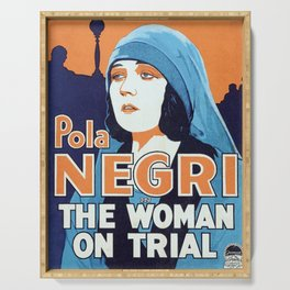 Classic Movie Poster - The Woman on Trial Serving Tray