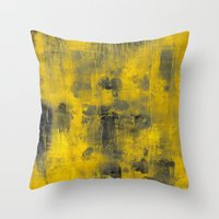 spice Throw Pillows featuring safron spice by patternization