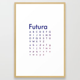 Fashionable Futura - Fade Framed Art Print