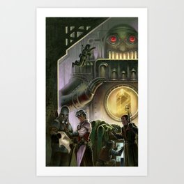 Steam Dungeons and Electric Treasure Art Print
