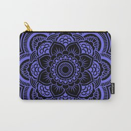 Mandala Black & Periwinkle Carry-All Pouch