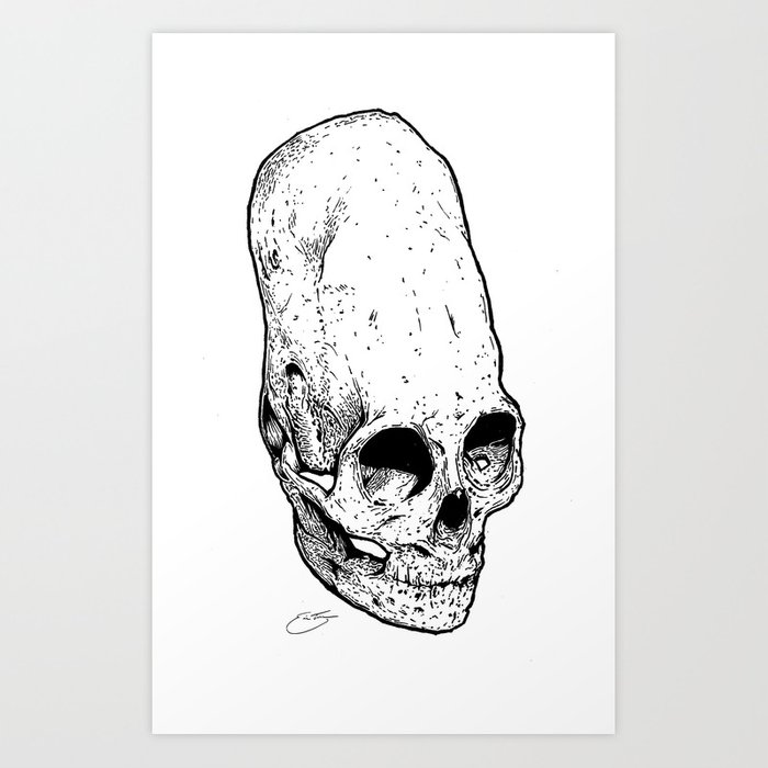 The Giant's Skull Art Print