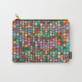 Colorful Tumbled Gemstones Beads Carry-All Pouch