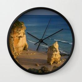 Praia da Rocha beach, Algarve, Portugal Wall Clock