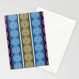 Purple Cornflower Pattern Stationery Cards