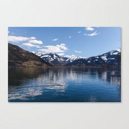 Zell-am-See Lake Canvas Print