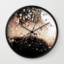 Red Rain Wall Clock