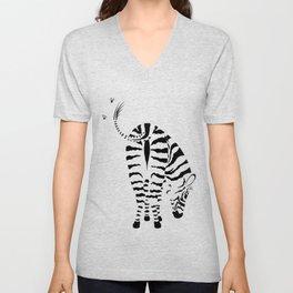 Kiss My Zebra Butt (light colours) Unisex V-Neck