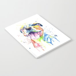 Pit Bull, Pitbull Watercolor Painting - The Softer Side Notebook