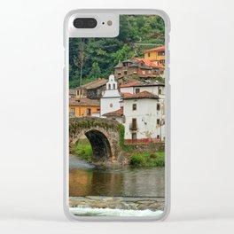 Stone Bridge Asturias Spain Clear iPhone Case