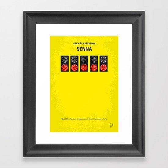No075 My senna minimal movie poster Framed Art Print