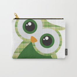 Green Owl Carry-All Pouch